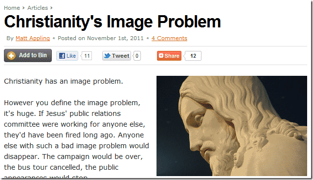 Christianity's Image Problem