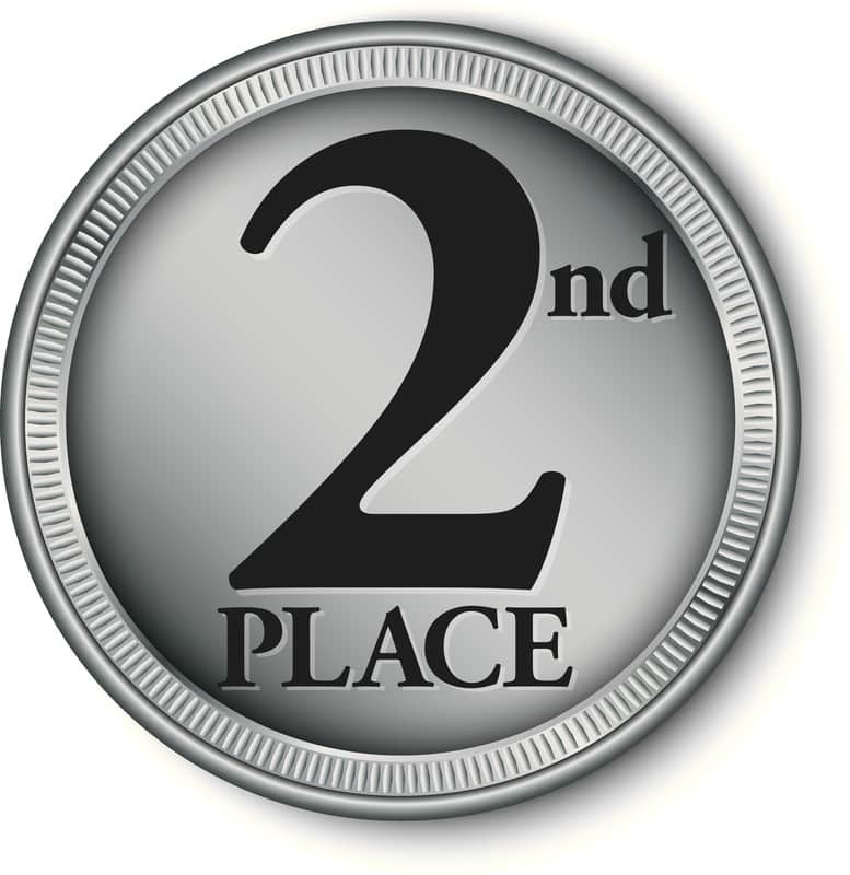 Second place is first winner