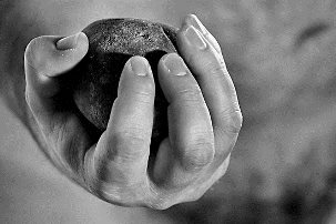 Hand on Stone - John 8
